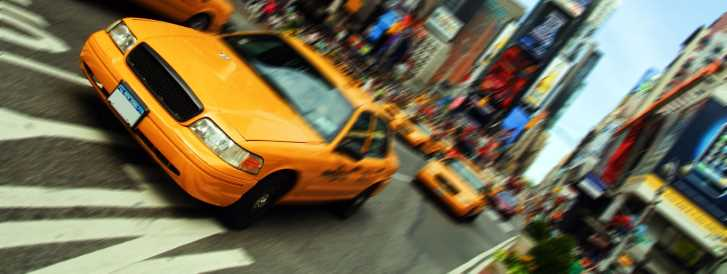 Yellow Cab, New York - Times Square
